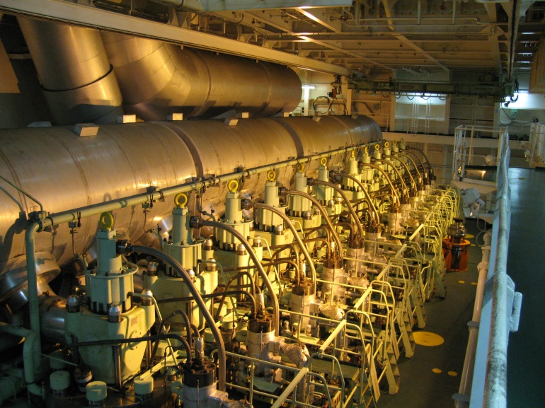Engine room, OOCL Tianjin